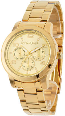 JCPenney FINE JEWELRY Personalized Dial Gold-Tone Stainless Steel Watch