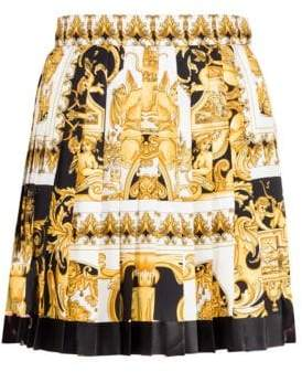 Versace Pleated Jersey Mini Skirt
