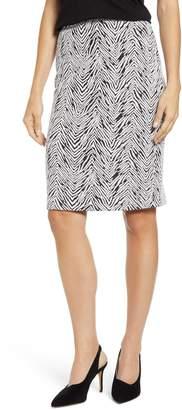 Vince Camuto Zebra Jacquard Pencil Skirt