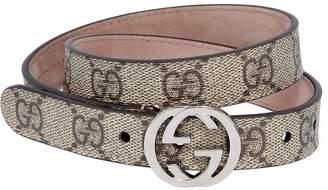 Gucci Gg Supreme Faux Leather Belt