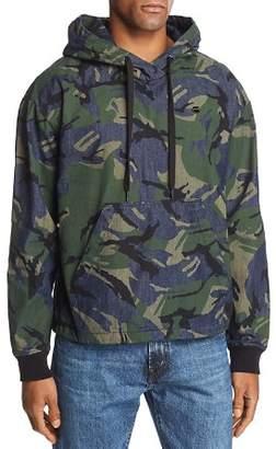 G Star Stor Camouflage-Print Denim Anorak Jacket