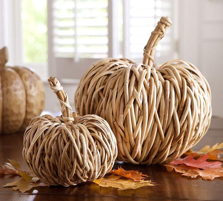 Woven Rattan Pumpkin