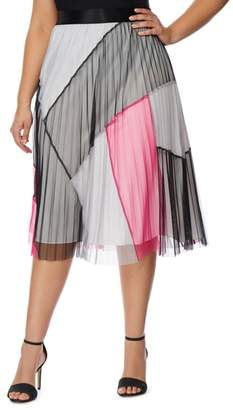 Wilson Rebel X Angels Colorblock Pleated Mesh Skirt