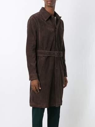 Ami Alexandre Mattiussi suede trench coat