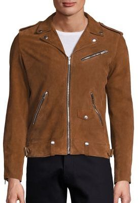 The Kooples Destroyed Suede Jacket $1,175 thestylecure.com