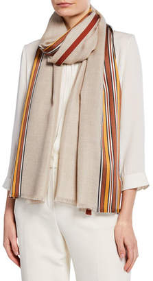 Loro Piana Multi-Stripe Fringe Stole