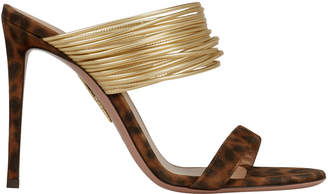 Aquazzura Rendez Vous Leopard Sandals