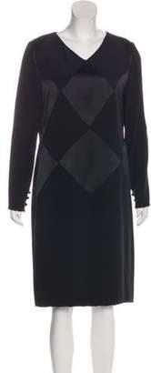 Bill Blass Vintage Harlequin Dress black Vintage Harlequin Dress