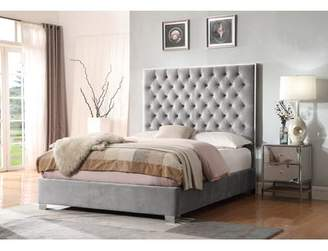 House of Hampton Lansford Upholstered Panel Bed