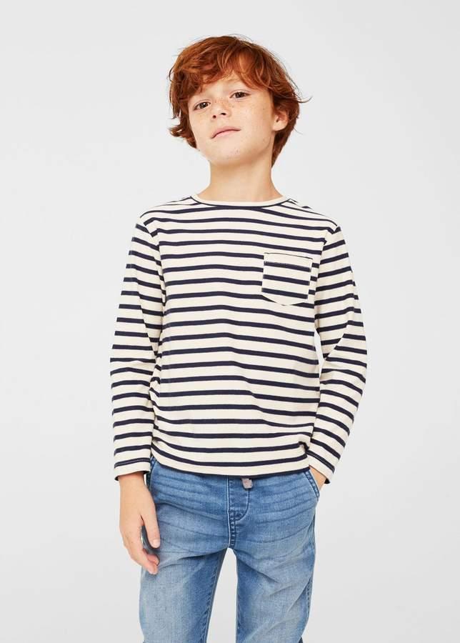 Baumwoll-T-Shirt mit Tasche