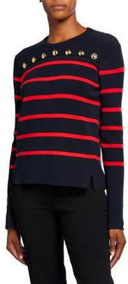 Escada Soah Nautical-Striped Sweater