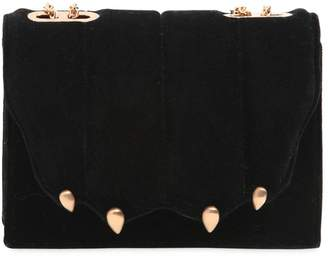 Marco De Vincenzo Small Griffe Velvet Shoulder Bag