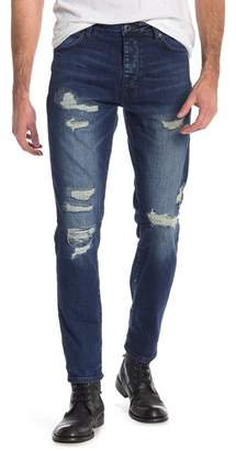 Neuw Ray Distressed Tapered Jeans