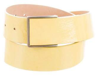 Worth Patent Leather Buckle Belt