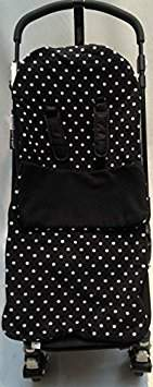 UPPAbaby Snuggle Footmuff/Cosy Toes Compatible with Buggy Vista Cruz G-Luxe Pram Polka Dot Black