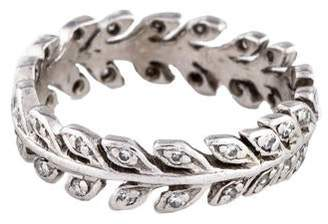 Cathy Waterman Platinum Diamond Wheat Band