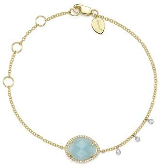 Meira T 14K White & Yellow Gold Milky Aquamarine & Diamond Bracelet