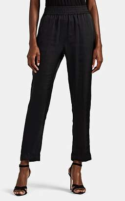 Juan Carlos Obando Women's Washed Satin Track Pants - Black