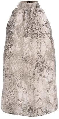 Mint Velvet Sasha Snake Print Halter Top