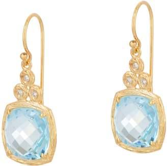 ADI Paz Cushion Cut Gemstone & Diamond Earrings, 14K