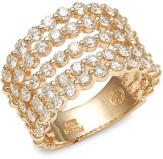 Effy 14K Yellow Gold & Diamond Ring
