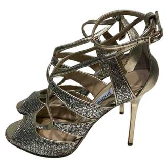 Jimmy Choo Gold Glitter Sandals