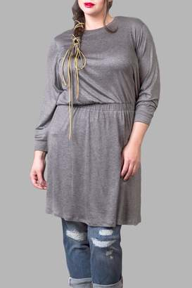 Love By Yona Charcoal Jersey Dress