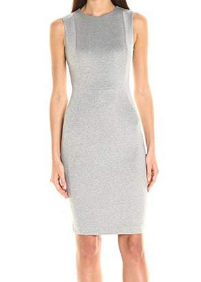 Calvin Klein Women's Scuba Sleeveless Princess Seamed Sheath Dress