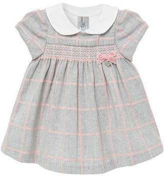 Mayoral Girl's Knit Plaid Smocked Dress, Size 2-12 Months