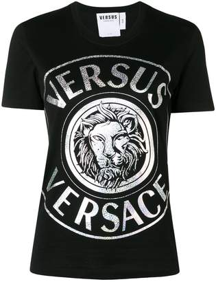 Versus metallic logo print T-shirt