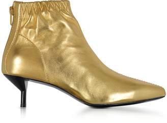 3.1 Phillip Lim Blitz Gold Metallic Leather Kitten Heel Booties