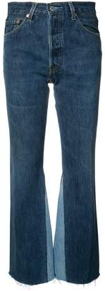 RE/DONE The Leandra high rise flared jeans