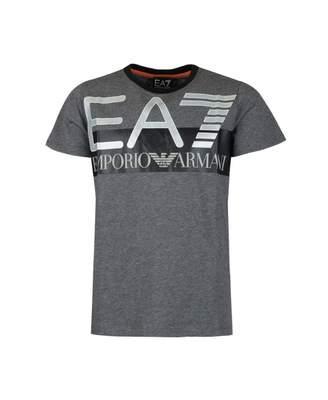 Ea7 Visibility Logo T-shirt Colour: GREY, Size: Age 4