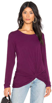 Michael Stars Long Sleeve Knot Top
