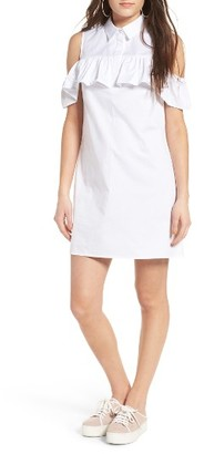 Women's Soprano Cold Shoulder Shirtdress $49 thestylecure.com