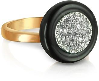 Azhar White Cubic Zirconia Silver Vermeil Ring