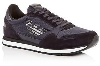 Giorgio Armani Men's Suede Low-Top Sneakers