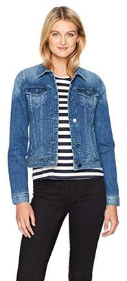Armani Exchange A|X Women's Denim Jacket with Two Breast Pockets and Snap Buttons