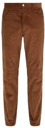 Maison Margiela Slim Fit Cotton Corduroy Trousers - Mens - Beige