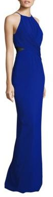 Badgley Mischka Twist Front Cutout Gown $550 thestylecure.com
