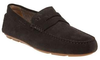 Armani Jeans New Mens Brown Driving Shoe Suede Shoes Lace Up