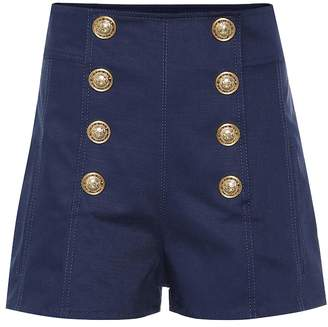 Balmain Embellished denim shorts