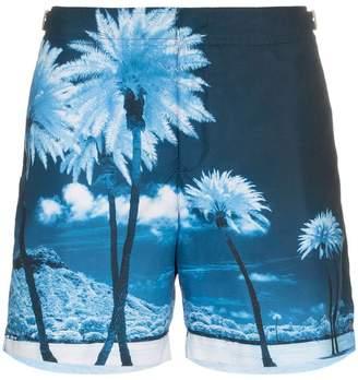 Orlebar Brown Bulldog palm tree print swim shorts