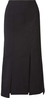 McQ Asymmetric Twill Midi Skirt - Black