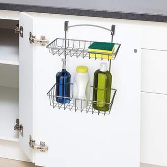 Over The Cabinet Kitchen Storage Organizer- Hanging Basket Shelf for Kitchen and Bathroom Organization by Classic Cuisine (Chrome)