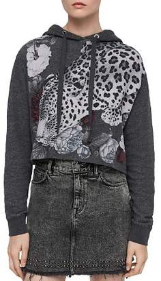 AllSaints Mila Asha Leopard Hooded Sweatshirt