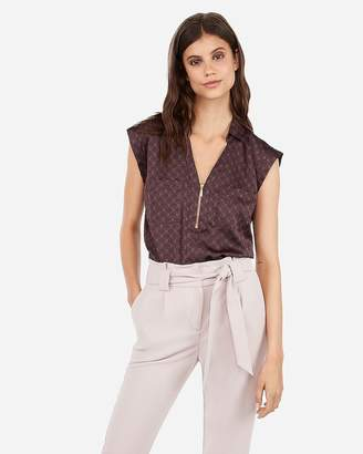 Express Printed Zip Front Chelsea Popover