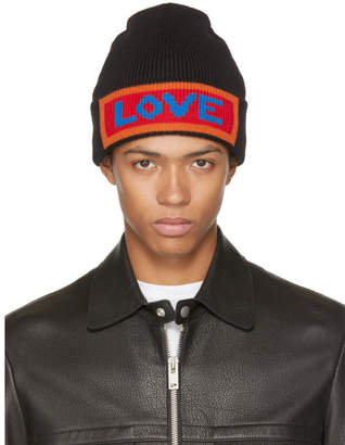 Fendi Black Love Beanie