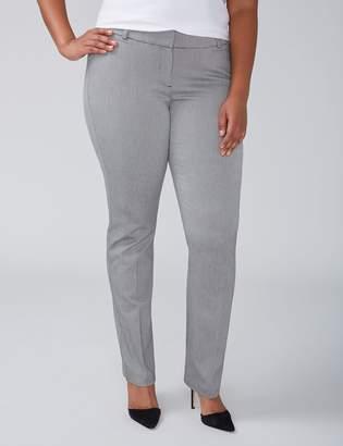 Lane Bryant Allie Straight Leg Pant - Gray Pattern
