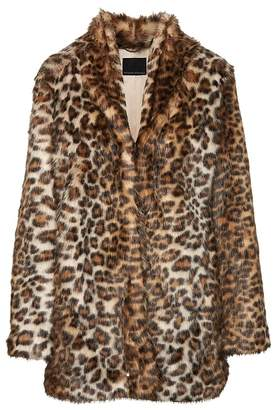 Banana Republic Leopard Print Faux Fur Coat